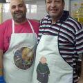 I cuochi del Saint Anthony of Padua Social Center, nella zona industriale di Zahle, in Libano. -