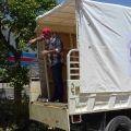Il furgone del Saint Anthony of Padua Social Center. -