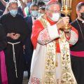 L'ingresso del patriarca di Venezia in Basilica del Santo. -