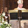 Mons. Moraglia durante la Santa Messa in Basilica del Santo il 13 giugno. -