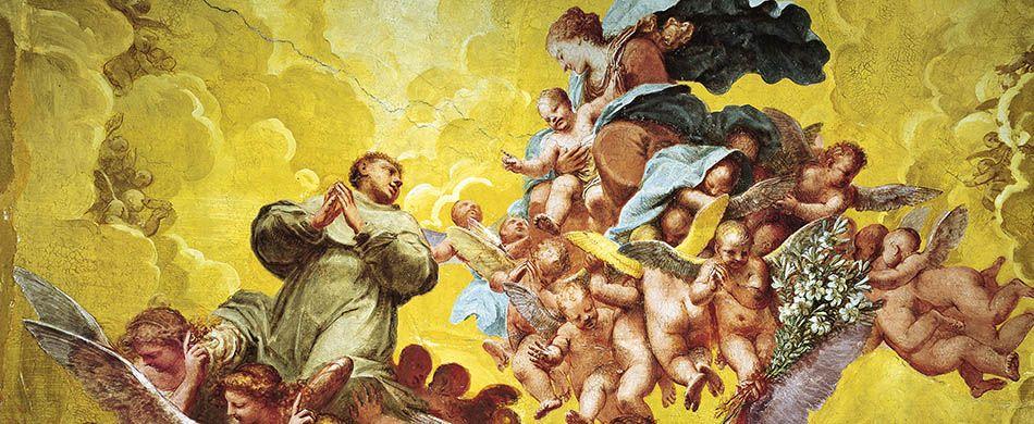Pietro Liberi, Gloria di sant'Antonio, 1665, Basilica del Santo, Sacrestia.