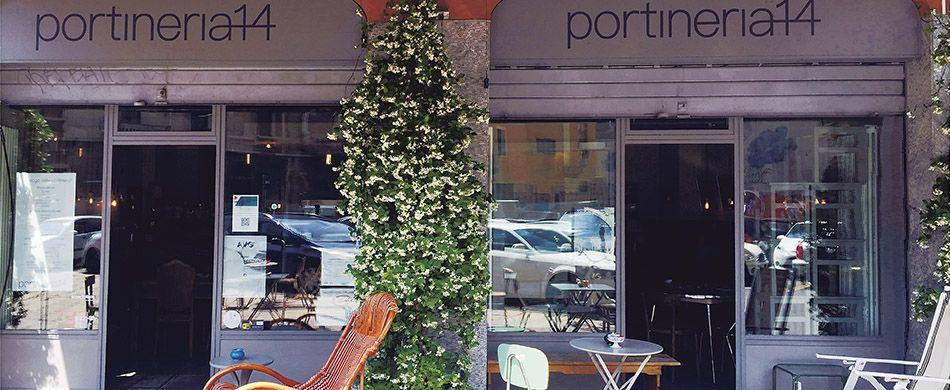 l'ingresso del locale Portineria 14 a Milano