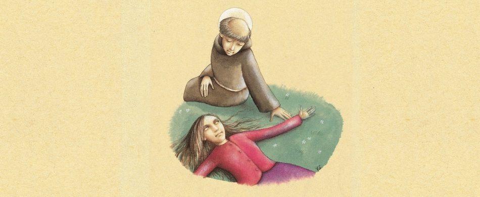 sant'Antonio e una donna