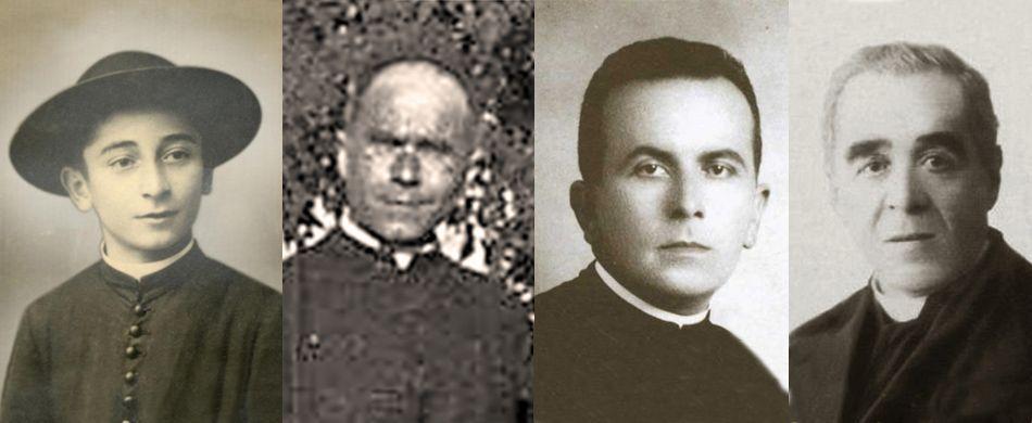 quattro dei sacerdoti uccisi nel triangolo della morte nel 1945