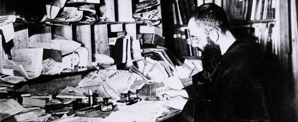 Padre Massimiliano Kolbe nella tipografia di Niepokalanow