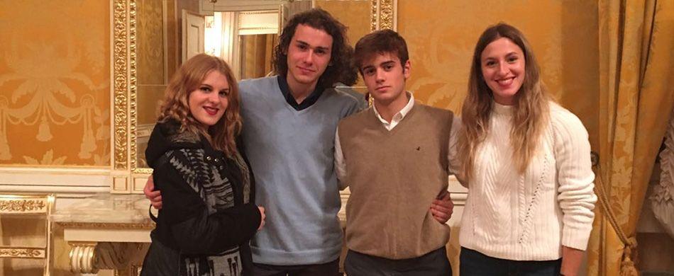 Giorgia, Sara, Filippo e Niccolò studenti del liceo Belli.