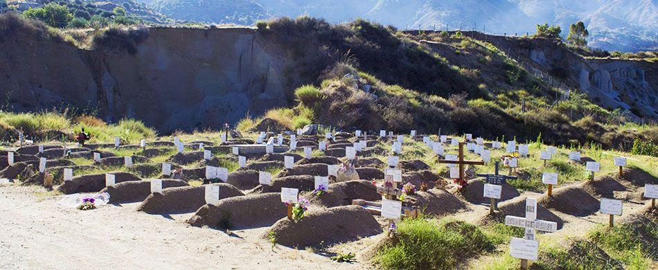 Cimitero migranti. Avvio Msa nazionale ottobre 2017.