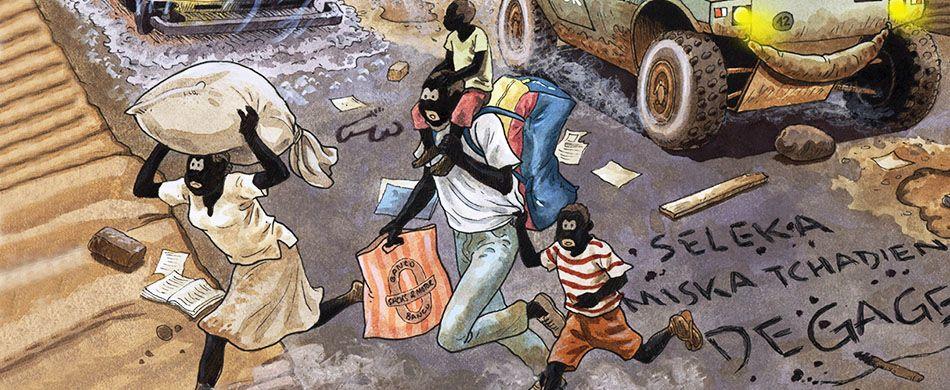Repubblica Centrafricana. Bangui, disegni. luglio-ago 2019