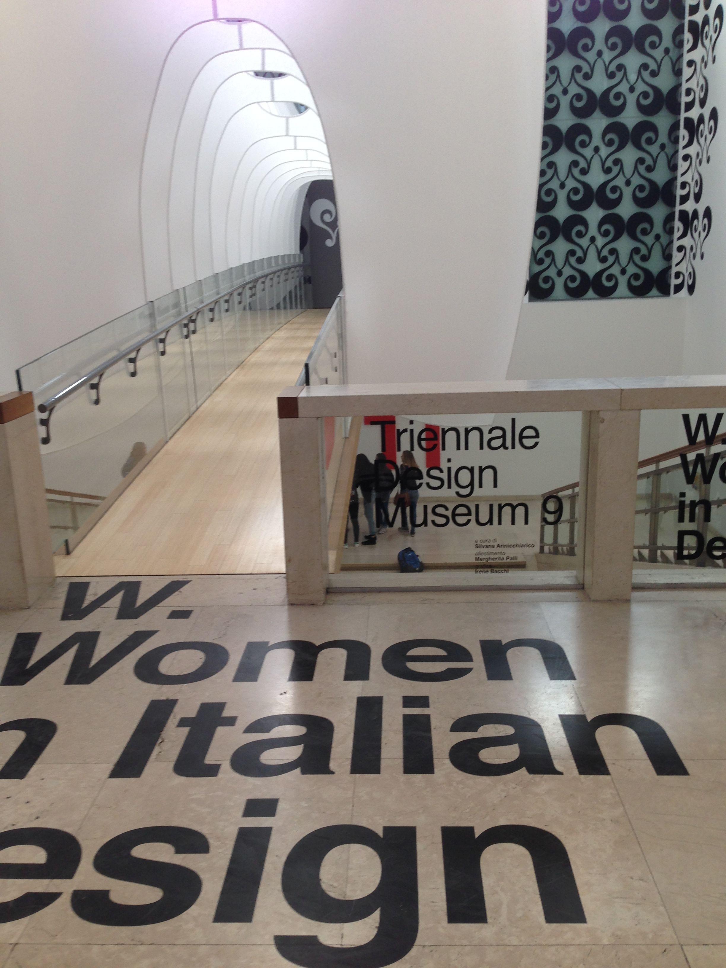 Ponte d'ingresso alla mostra «W. Women in italian design» - Luisa Santinello