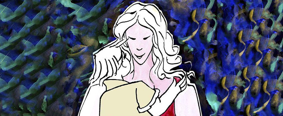 mamma e figlio abbracciati illustrazione