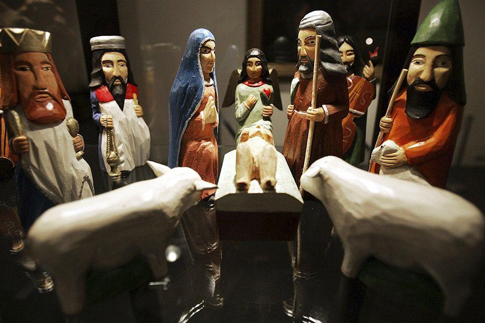 Natività realizzata dalle sapienti mani di artigiani del legno (Polonia). - ©Joe Raedle/Getty Images