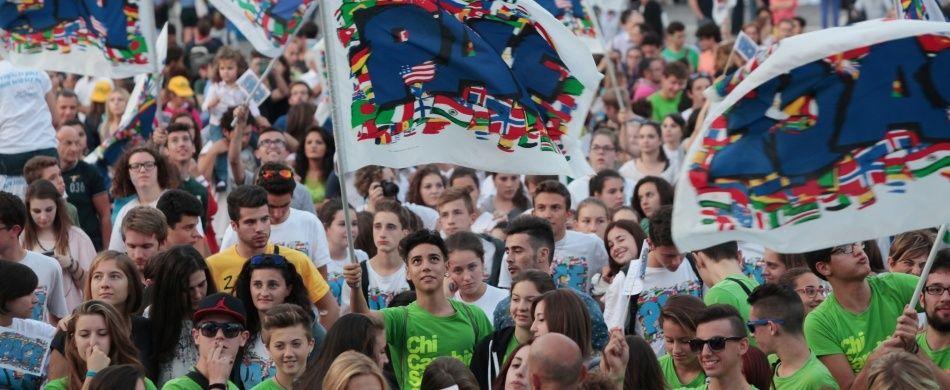 I 40 mila giovani radunati a Napoli per il quarto mondiale dei giovani, nel 2014.