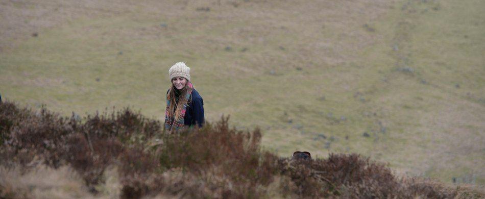 una ragazza in montagna
