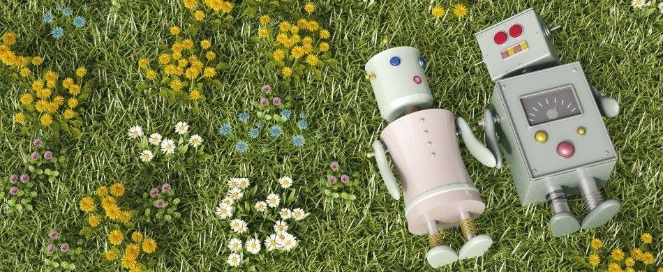 due robotini innamorati