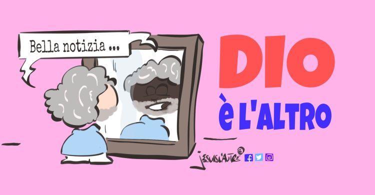 illustrazione uomo allo specchio