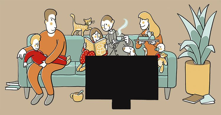 famiglia e sacerdote insieme