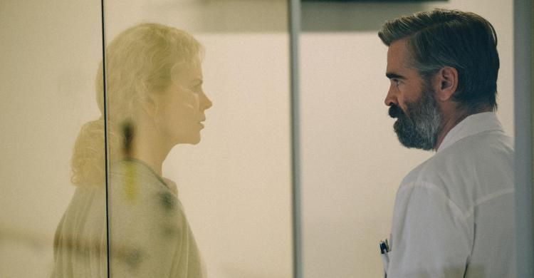 Nicole Kidman e Colin Farrell in una scena di «Il sacrificio del cervo sacro».