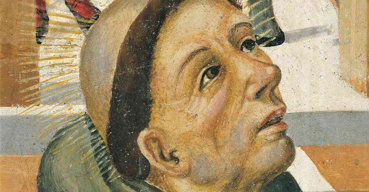 Filippo Da Verona, «Sant'Antonio appare al beato Luca» (particolare dell'affresco), 1510. Sala adunanze, Scoletta del Santo, Basilica del Santo di Padova.
